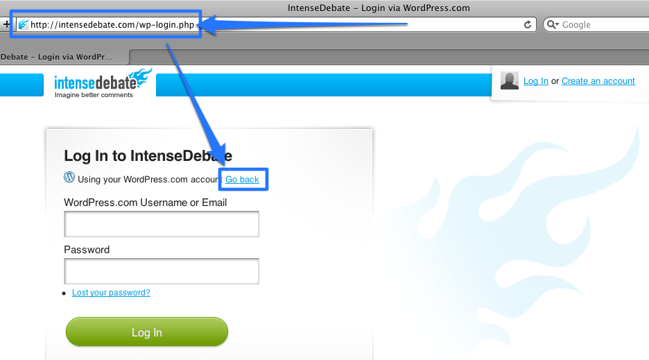 intensedebate support \u2014 passwords Create PHP Password Script wordpress com password reset↑ table of contents ↑